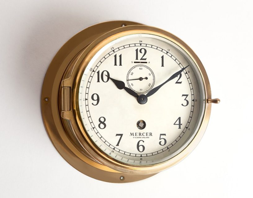 Thomas Mercer clock on RMS Queen Mary's suites: clock making excellence