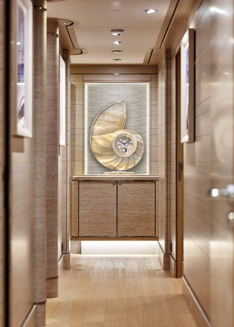 Nautilus, superyacht horological art piece perfect for art galleries.