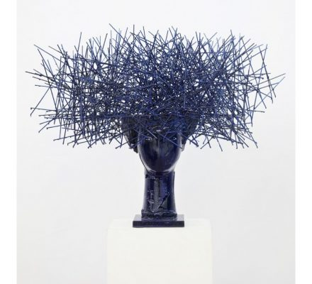 anolo Valdes Head in Blue (Courtesy of Opera Gallery)