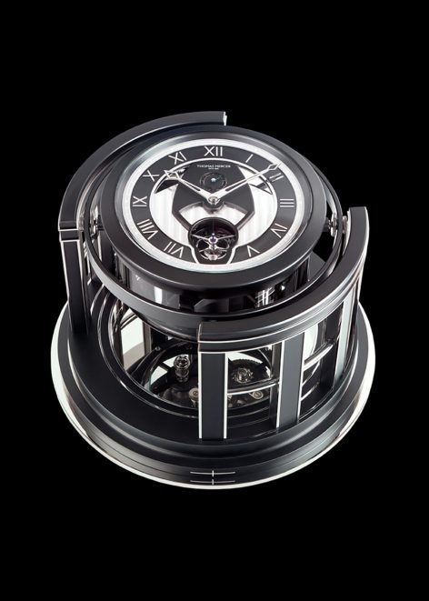 Legacy Marine chronometer boasting a superior architecture cabinet