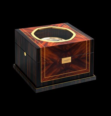 A hand made, decoration cabinet for a manufactory marine chronometer
