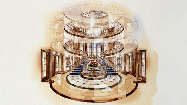 The yacht interiors of the new mega yacht Britannia by Winch Design. Thomas Mercer again as time keepers?