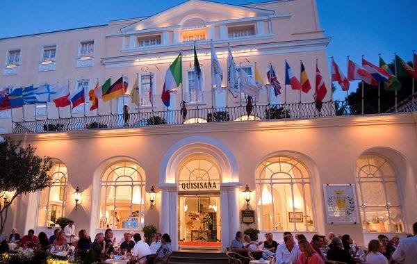 Exclusive design and house luxury: the lux deco Hotel Quisisana, Capri Italy.