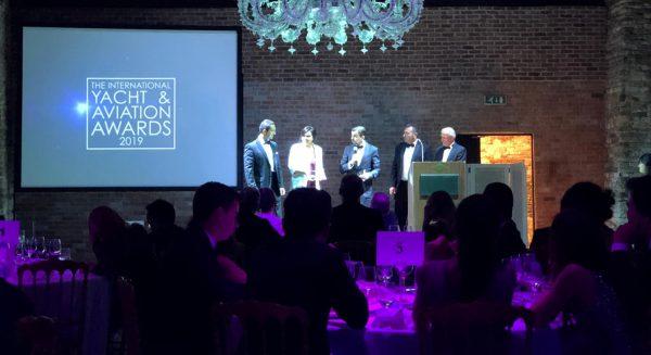 Award for luxdeco super yacht interior design team: David Linley & Thomas Mercer.