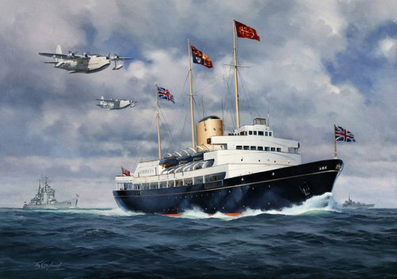 Britannia Royal Yacht, commissioned by Queen Elizabeth and Prince Philip and featuring Thomas Mercer clocks
