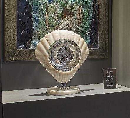 Chelys, hand made horological art piece for art galleries