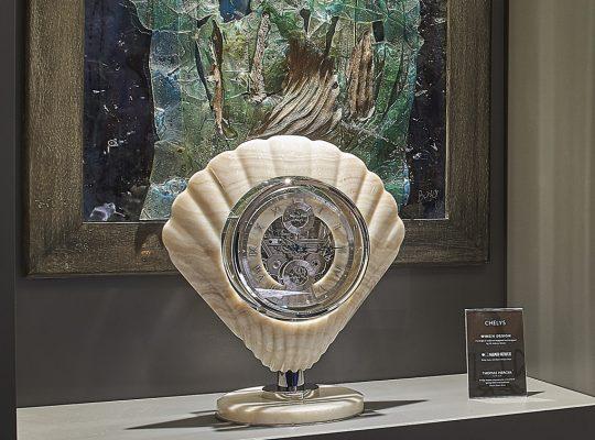 Thomas Mercer Chelys chronometer: art piece exhibited at the Monaco Yacht Show.