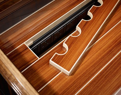 Luxury desks: Linley furniture's hand made lux deco rosewood Riviera.