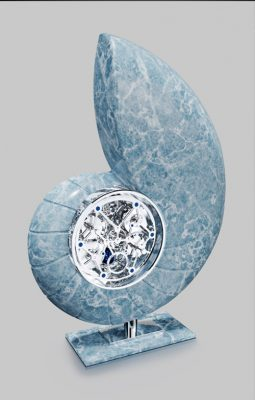 Nautilus - stone sculpture - exclusive design on Here Comes the Sun Yacht.